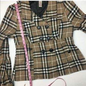 Plaid Peacoat/ Jacket
